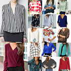 Casual Womens Blouse Chiffon Long Sleeve Ladies Top T shirt Loose Short Tops CHI