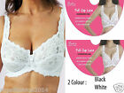 Women Ladies Sexy Full Cup Lace Bra Underwired Full Support Comfort Ultimate Bra