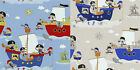 Boys Adventure Pirates Ships Sea Nursery Wallpaper 10M Textured Paper 53cm Wide