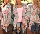 Women Fashion Loose Sweater Long Sleeve Knitted Cardigan Outwear Jacket Coat New