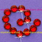 (Any SIZE) Light Siam Red Iron On Flatback Hot fix Rhinestones Shine Crystal