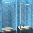 Sliding Shower Enclosure And Tray Waste Door+Side Panel Walk In Screen Cubicle