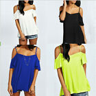 Sexy New Off Shoulder Casual Loose Solid Stretch Top Tees Beach Blouse