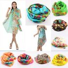 Women's Ladies Flower Floral Voile Long Scarf/Wrap/Shawl/Cover-Up/Scarves/Dress