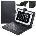 "US For Amazon Kindle Fire 7"" 8"" 10"" Tablet Leather Micro USB Keyboard Case Cover"