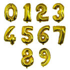 """32"""" Gold Silver Helium Foil Number Balloon Birthday Wedding Party Decor Supplies"""
