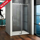 1200 Frameless Sliding Shower Enclosure Glass Screen Door Tray Strong Bearing