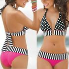 Sexy Swimwear Women Bikini Set Bandage Push-Up Padded Swimsuit Bathing Beachwear