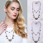 1 Piece Hot Women's Ladies Gold/Silver Plated Pendant Bib Jewelry Necklace