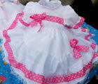 DREAM BABY TRADITIONAL FRILLY NETTED  DRESS 0 UP TO 18 MONTHS OR REBORN DOLLS