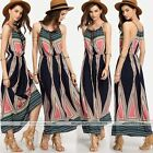 Hot Womens sleeveless Sexy Boho Long Maxi Dress Ladies Beach Party Sun Dress