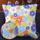 PL26a Color Flower Canvas Water Proof Outdoor Cushion Cover/Pillow Case Size