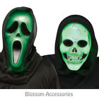 A921 Fade in Out Light Up Skull Or Ghost Face Animation Mask Licensed Halloween