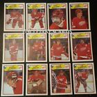 1988-89 OPC DETROIT RED WINGS Select from LIST NHL HOCKEY CARDS O-PEE-CHEE
