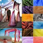 72x30m Crystal Sheer Organza Fabric Tulle Roll Wedding Table Runner Chair Sashes