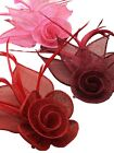 Sinamay Flower Hair Beak Clip Brooch Corsage Fascinator - Wedding Races Bridal