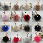 Cute Fluffy Ball Faux Rabbit Fur Car Keychain Pendant Handbag Charm Keyring Pom