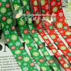 5/50/100YDS Xmas snowflake Grosgrain Ribbon-10mm/16mm width-Various Colours moly