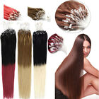 """16-26"""" Ombre 100% Remy Human Hair Extensions Micro Ring Bead Tip Easy Loop Hair"""