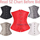 Sexy Ladies lace up Underbust Waist Trainer corset bustier g-string Size S-6X H3