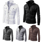 Men's Fashion Slim Winter Coat Jacket Outerwear Overcoat Warm Blazer Casual Tops