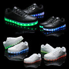 Unisex Girl Boy LED Light Up Lace up Luminous Shoes Sportswear Sneaker CN35-46