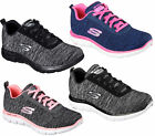 Womens Skechers Flex Appeal 2.0 Memory Foam Lace Up Sports Trainers Sizes 4 to 8