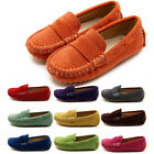 Toddler Kid Boy Girl Unisex Soft Leather Peas Shoes Casual Slip On Flat Loafers