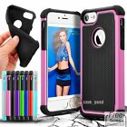 Silicone Rubber 2in1 New Shockproof Hybrid Cover Case For Apple iPhone 7/7 plus