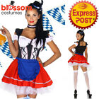 E46 Ladies German Beer Maid Bavarian Oktoberfest Outfit Fancy Dress Up Costume