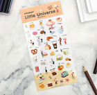Pony Brown Little Universe Restaurant Clear Sticker Diary Planner Decor Tape