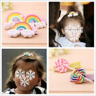 2pcs Baby Girl Hair Clip Hairpin Barrette Pin Gum Rainbow Lollipop Candy Kid
