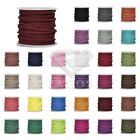 30m/Roll Round Thread Cord Strings Faux Suede Bracelet Jewellery 3x1.5mm