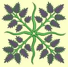 Anemone Quilt Squares #6 Singles-DESIGN 2-Machine Embroidery Design in 4 sizes