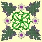 Anemone Quilt Squares #6 Singles-DESIGN 7-Machine Embroidery Design in 4 sizes