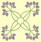 Anemone Quilt Squares #6 Singles-DESIGN 8-Machine Embroidery Design in 4 sizes