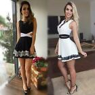 Summer Charming Women Casual  Cocktail Party Evening Sleeveless Lace Mini Dress