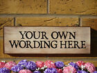 PIGEON LOFT SIGN PIGEON PLAQUE OWN WORDING SIGN WEATHERPROOF SIGN WOODEN PLAQUES