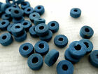 3x8mm 150/200/ 300/500/1000pcs BLUE WOOD BEADS W00098
