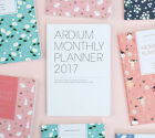 2017 Ardium Monthly Planner Diary Journal Scheduler Agenda Schedule Book Note