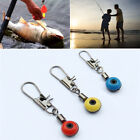 20PCS Durable Fishing Line Sinker Slide Hook Swivel Shank Clip Connector Snap MN