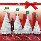 NEW Christmas Tree 5 6 7 75FT w Steel Base Decorate Ornament Xmas WHITE NATURAL