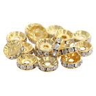 HOT! Spacer Beads Gold Alloy/Rhinestone/Crystal 10mm DIY Making Wholesale