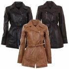 Ladies Infinity Mid Length Fitted Waxed Soft Leather Jacket In 3 Colours