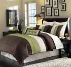8-Piece Luxury Stripe Duvet Cover Set Bed-In-A-Bag (5 Colors)