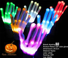 LED Flashing Finger Light Up Gloves Colorful Lighting for Rave Halloween Props