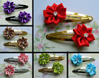 1 X PAIR HAIR CLIP GRIP FLOWER RIBBON BOW SNAP SLIDE CRYSTAL ROSETTE CUTE KAWAII