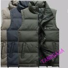 Middle Aged Mens Winter Down Vest Stand Collar Father Thick Warm Waistcoat Coat
