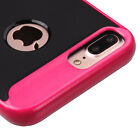 """FOR APPLE IPHONE 7 PLUS 5.5"""" BLACK PINK RIPPLE HYBRID CASE RUGGED SLIM COVER"""