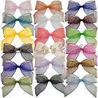 Large Organza Snow Sheer Wired Ribbon Bow - 24 Colours